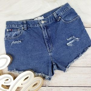 Tommy Hilfiger | High waisted cut off jeans
